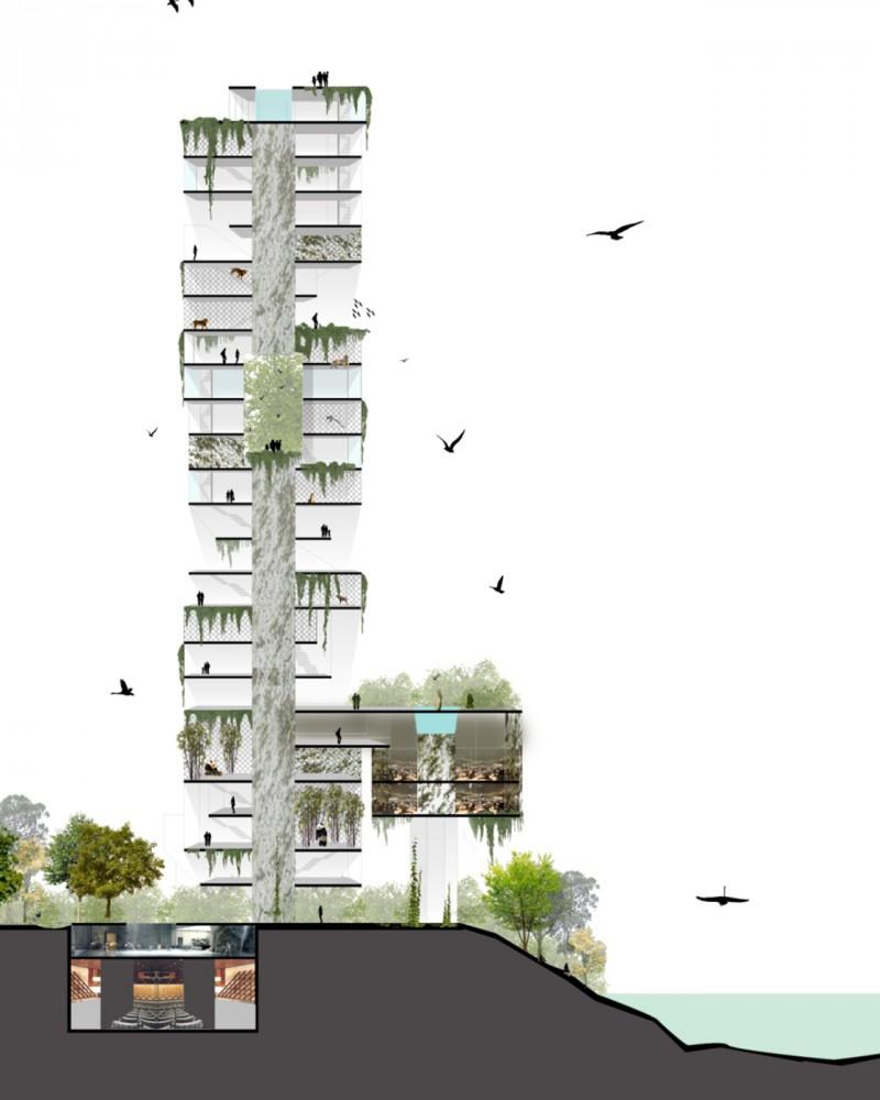 29 buba arquitectos vertical zoo concept the tru for Arquitectura nota de corte