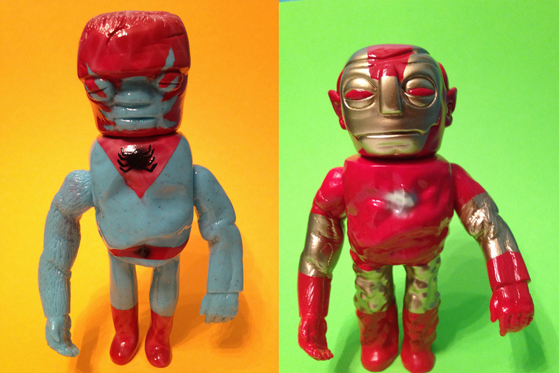 the mighty blurble is proud to present his latest batch of grody shogun customs the bootleg spiderman and iron man taking both the dracula and bootleg iron man 2 starring
