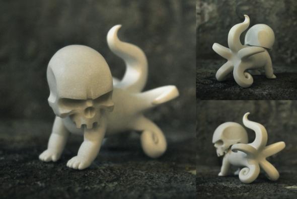 larva skull