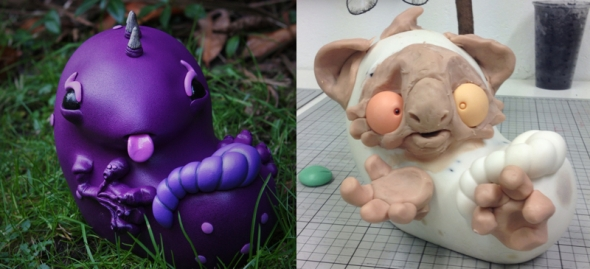 ume toys custom monster embryo for taylored curiosities toycon uk