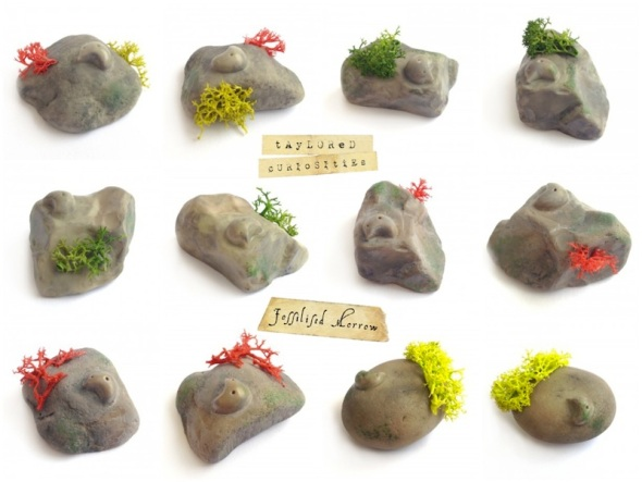 fossilised morrow  taylored curiosities designer toy art toy rock fossil toycon uk selection 2 COMP