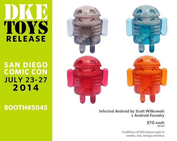 Infected Android by Scott Wilkowski x Android Foundry Smoke SDCC exclusive Black