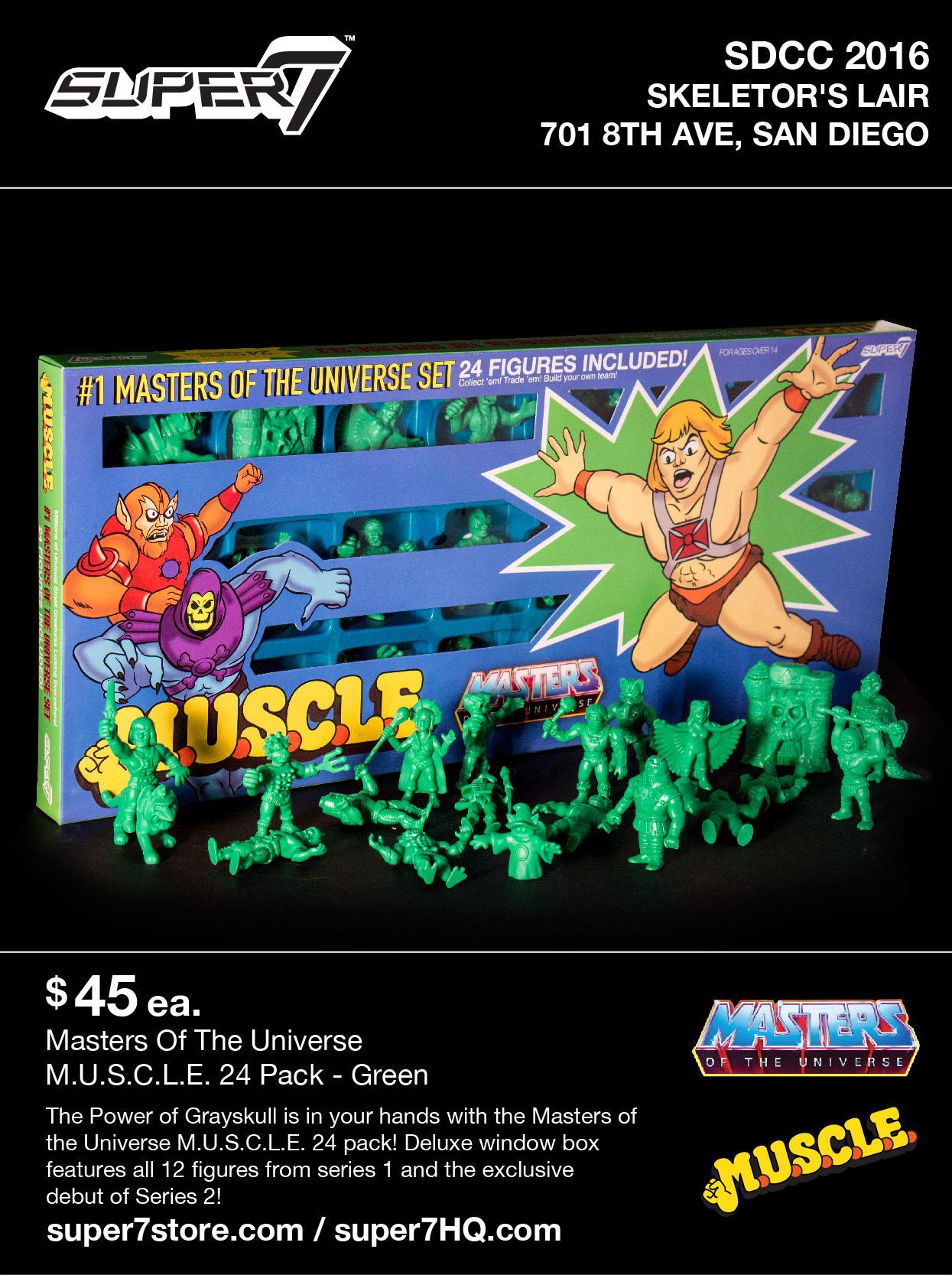 WAVE 2 SKELETOR NEON GREEN FIGURE HE-MAN M.O.T.U.S.C.L.E. MOTU M.U.S.C.L.E