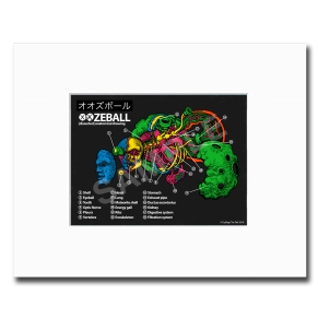 oozeball kaws print promo